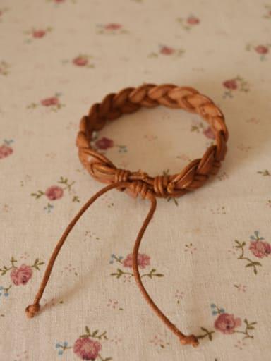 Men Cownhide Leather Twist Bracelet