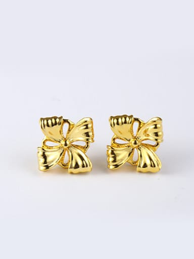 Ethnic style Simple Flower Stud Earrings