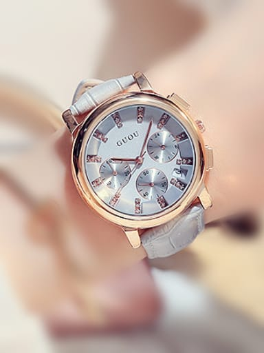 GUOU Brand Fashion Multi-function Mechanical Women Watch