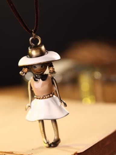 Couples Lovely Doll Shaped Necklace