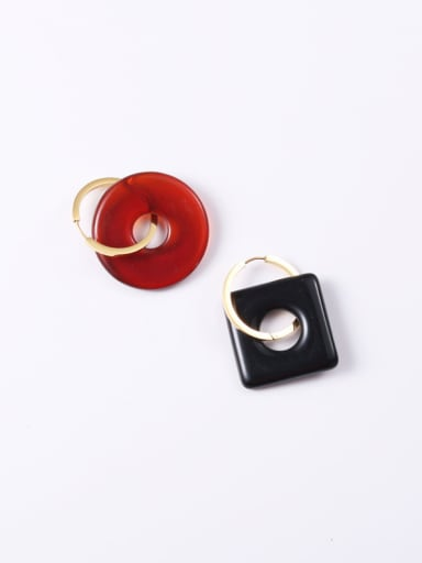 Titanium With Gold Plated Simplistic Geometric Clip On Earrings