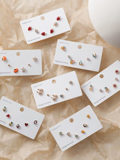 Alloy With Gold Plated Cute Friut Stud Earrings