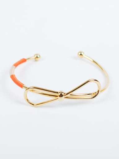 Elegant Open Design Bowknot Shaped Bangle