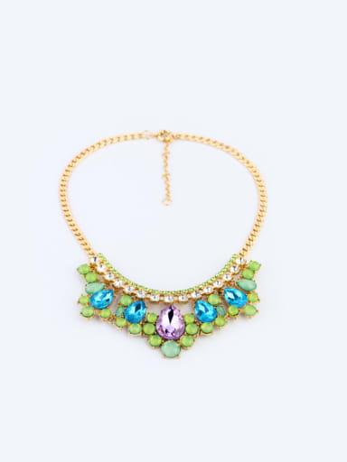 Artificial Stons Flower Women Necklace