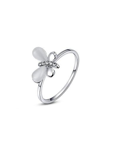 Women Fashion Dragonfly Shaped Opal Ring