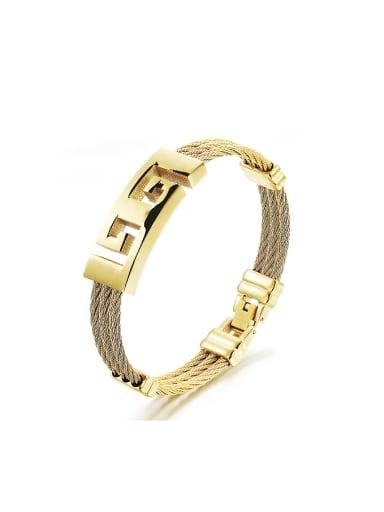 Fashion Gold Plated Sporty Men Bracelet