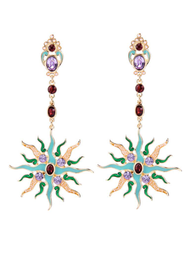 Vintage Rome Style Personality Enamel Drop Earrings