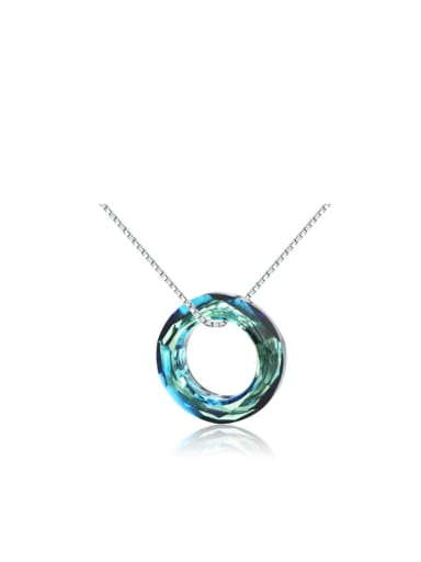 Colorful Circle Austria Crystal Women Necklace