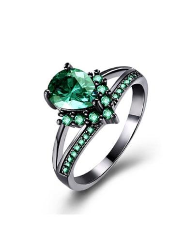 Fashion Water Drop shaped Zircon Ring