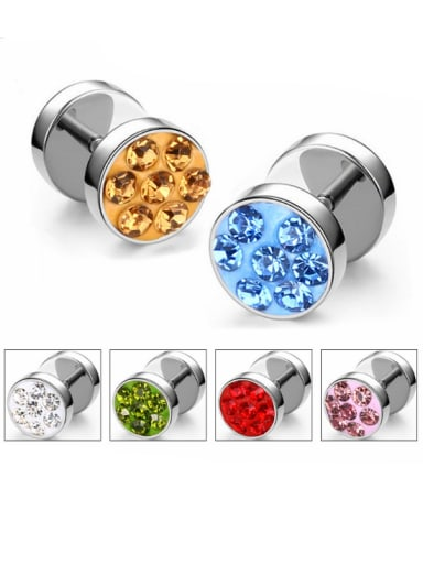 Stainless Steel With Fashion Round Stud Earrings