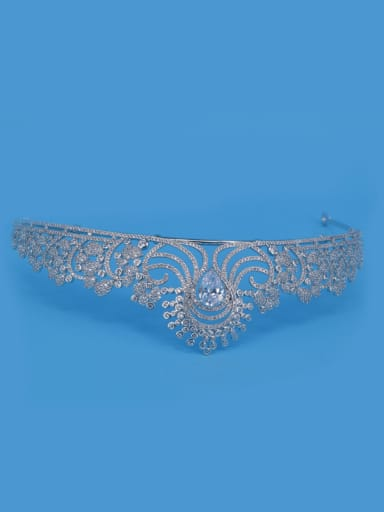 Flower Pattern Crown Shaped Women Wedding Hair Accessories