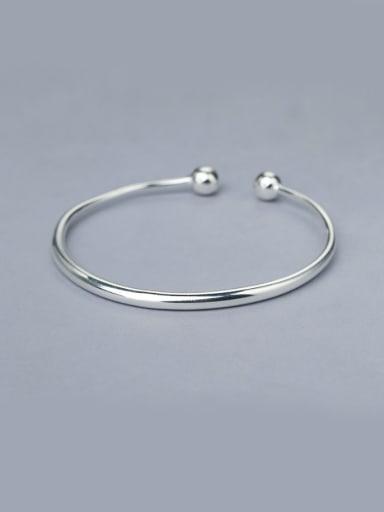 925 Silver Open Design Bangle