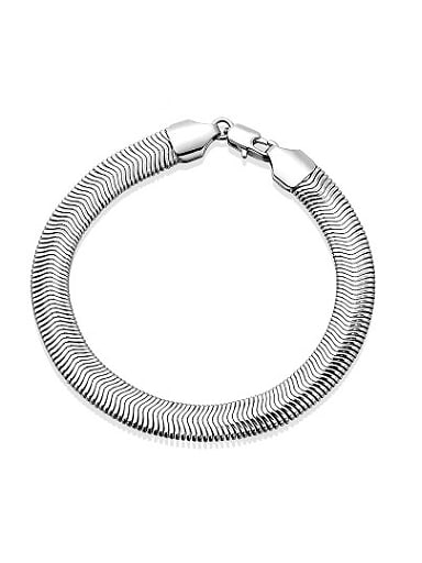 Exquisite Platinum Plated Geometric Shaped Bracelet