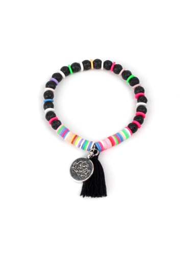 Colorful Clay Fashion Crystal Charm Bracelet