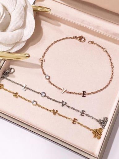 Titanium steel exquisite LOVE letter bracelet