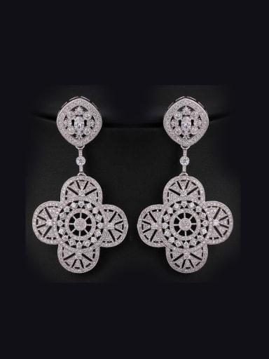 Dazzling Flower drop earring