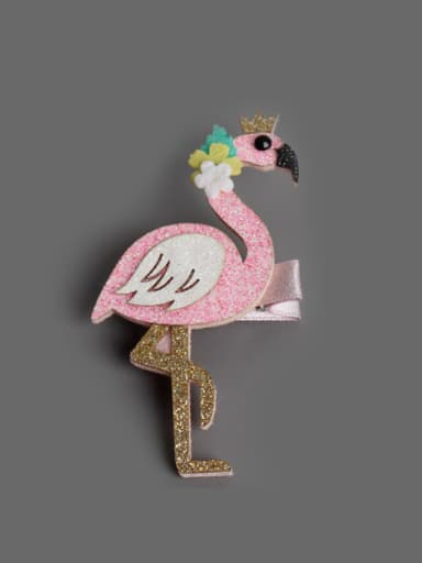 Flamingo Owl Hair clip