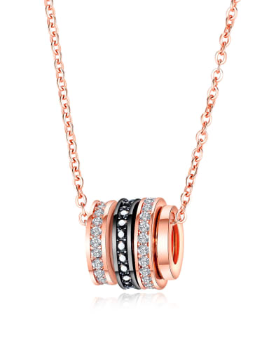 Copper With Rose Gold Plated Fashion Round Necklaces