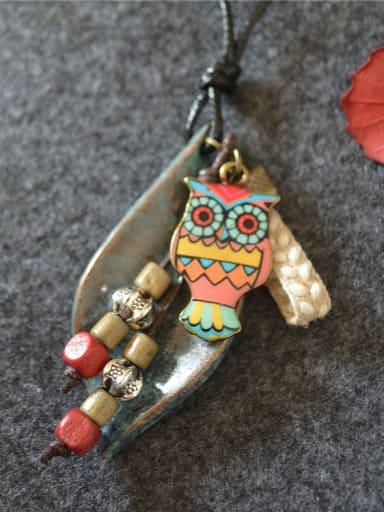 Retro Style Owl Shaped Necklace
