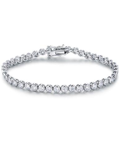2018 2018 2018 Platinum Plated Zircon Bracelet