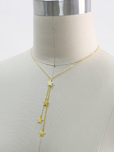 Fashion Little Stars Pendant Silver Necklace