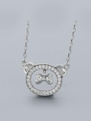 Cute Bear Bow Necklace
