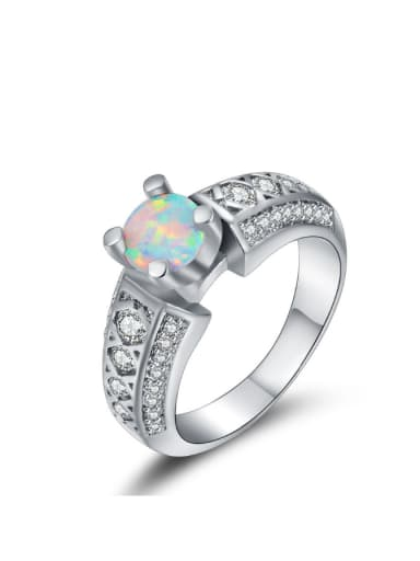 White Gold Plated Western Style Alloy Ring