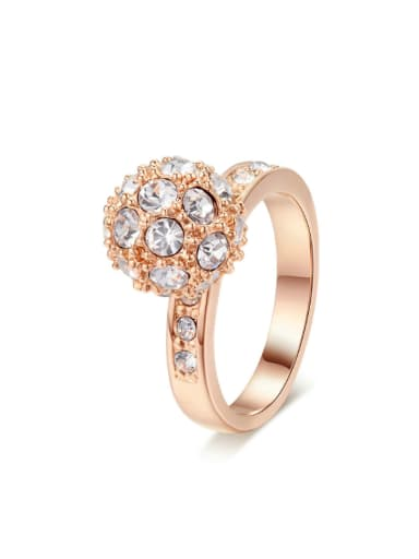 Round Small Ball Zircons Fashion Ring