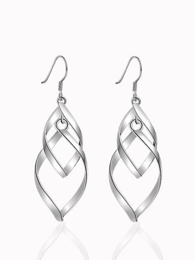 Geometric Leaves-shape Copper Drop Earrings