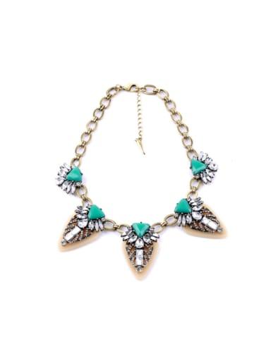 Luxury Triangle Pendant Ladies Necklace