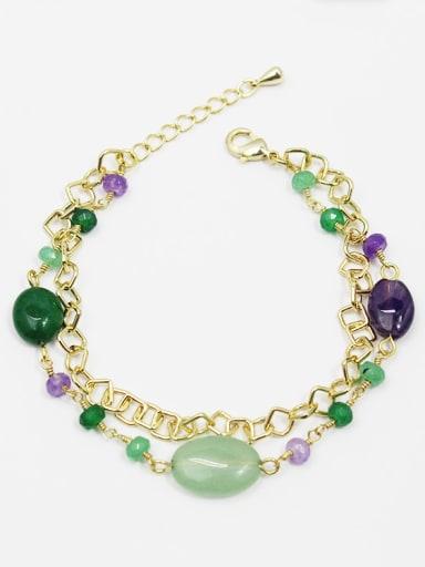 Elegant Double Layer Oval Shaped Bracelet