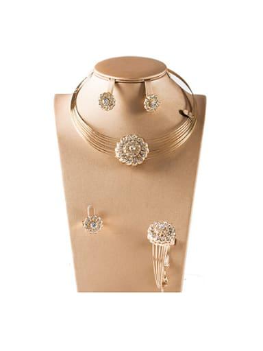Fashion Rhinestones Four Pieces Jewelry Set
