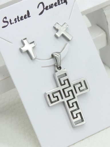 Western Style Cross Two Pieces Jewelry Set