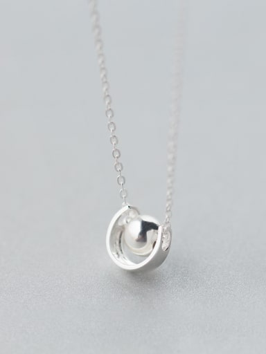 S925 Silver Light Bead Semicircle  Clavicle Necklace
