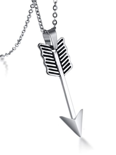 Exquisite Arrow Shaped Stainless Steel Pendant
