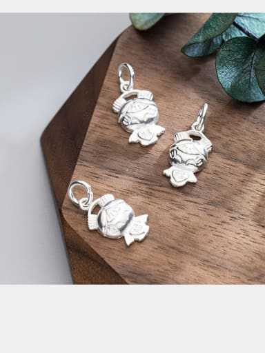 925 Sterling Silver With Silver Plated Personality doll Charms