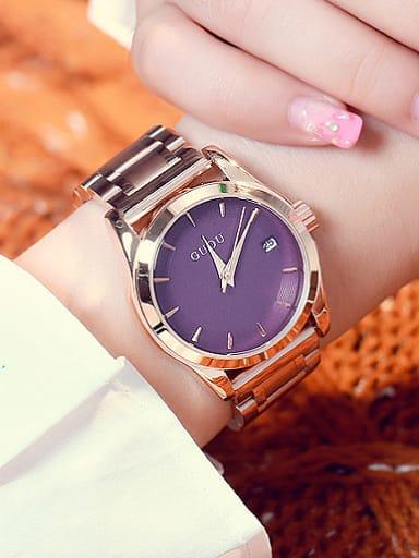 GUOU Brand Trendy Numberless Women Watch