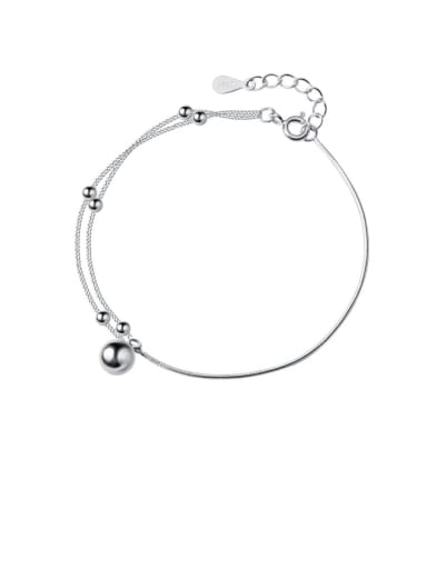 925 Sterling Silver With Platinum Plated Fashion  Double layer  Bracelets