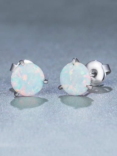 925 Silver Round stud Earring