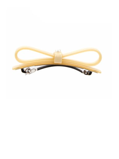 Alloy With Cellulose Acetate   Trendy  Bowknot Barrettes & Clips