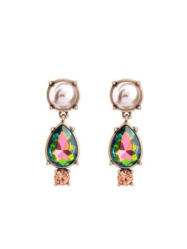 Retro Colorful Stones drop earring