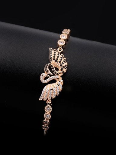 Double Swan Stretch Bracelet