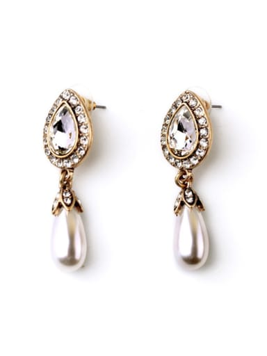 Exquisite and Lovely Dripping Artificial Pearl Alloy stud Earring