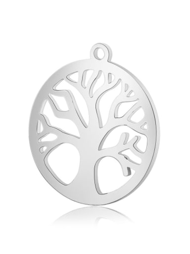 Stainless Steel With Trendy Round With life tree Charms