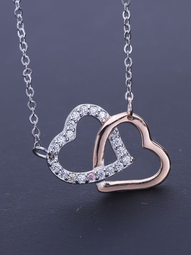 Elegant Double Heart Necklace