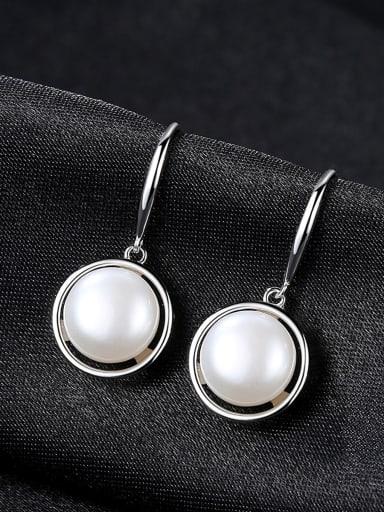 Sterling  Silver Natural Freshwater Pearl Earrings
