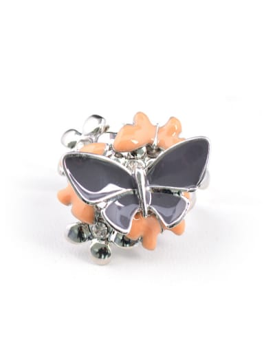Personalized Butterfly Flower Rhinestones Alloy Ring