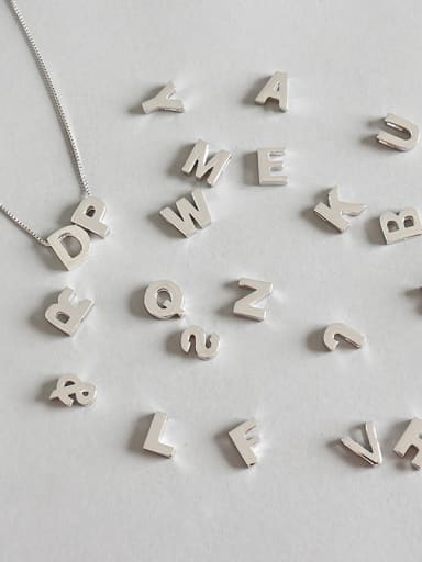 Sterling Silver simple CHIC style 26 English letter pendants
