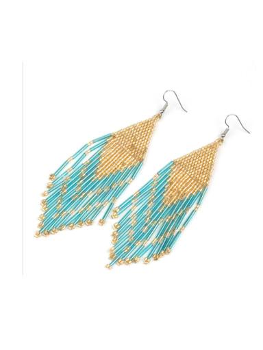 Hot Selling Bohemia Beads Woven Tassel Earrings