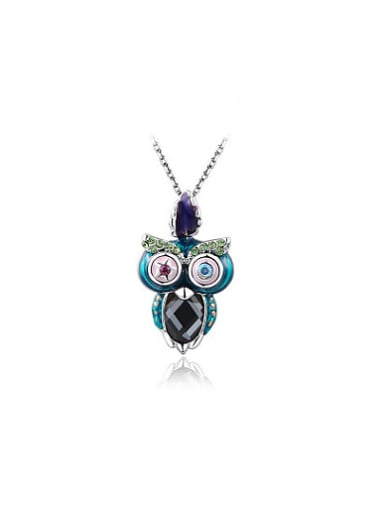 Vintage Style Owl Shaped Austria Crystal Necklace